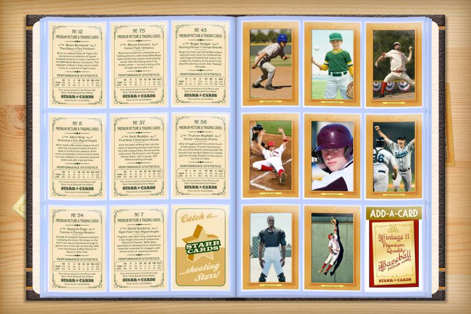Make your own custom baseball cards with Starr Cards.