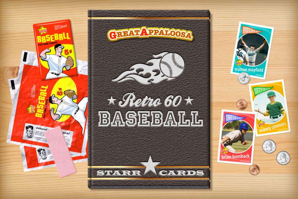 Make your own retro baseball card with Starr Cards.