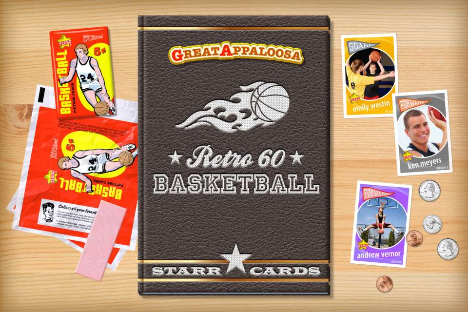 Make your own retro basketball card with Starr Cards.