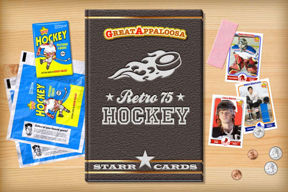 Make your own retro hockey card with Starr Cards.