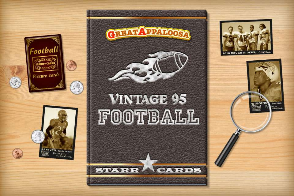 Make your own vintage football card with Starr Cards.